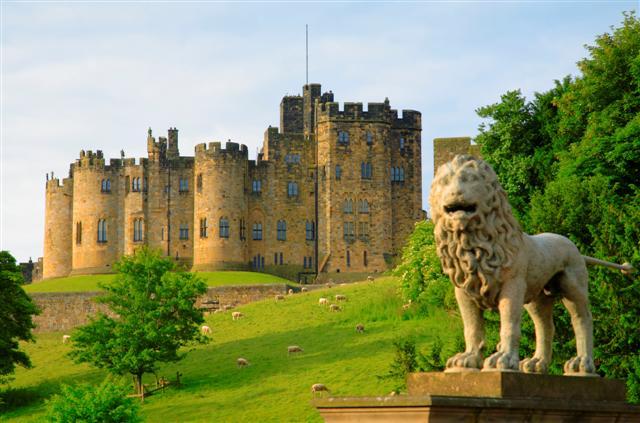 Замок Гарри Поттера - Замок Алник - Alnwick Castle 37039