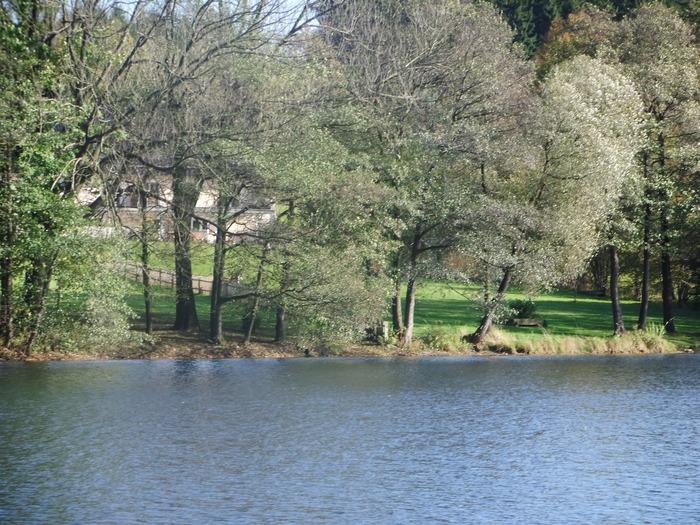 Осенний денёк на озере в Лангенау, Саксония 59869