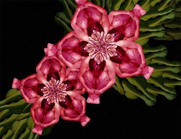 Креативные цветы из людей 5