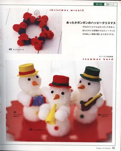 Новогодние игрушки из помпонов.