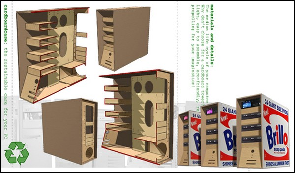 картонный корпус для компа развертки как сделать самому