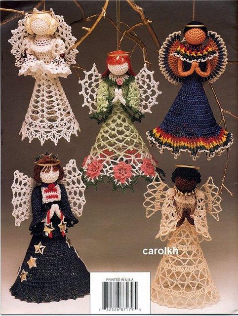 новогодние игрушки своими руками, как связать ангела