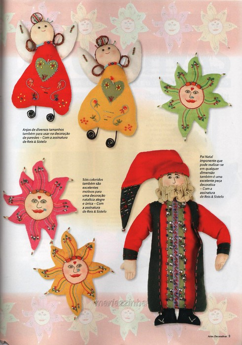 Christmas decorations with patterns