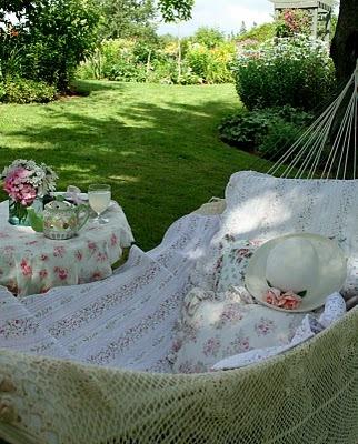 почивка в градината