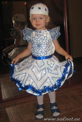 Платье снежинки на девочку