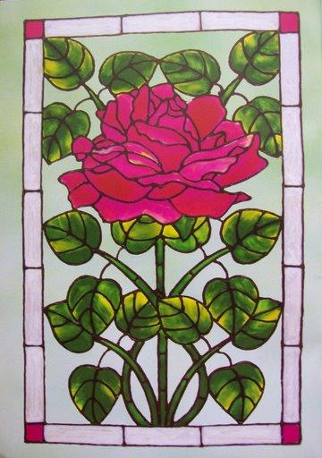 подборка шаблонов для витражной росписи