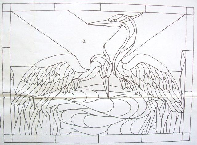 Шаблоны для витражной росписи 96758