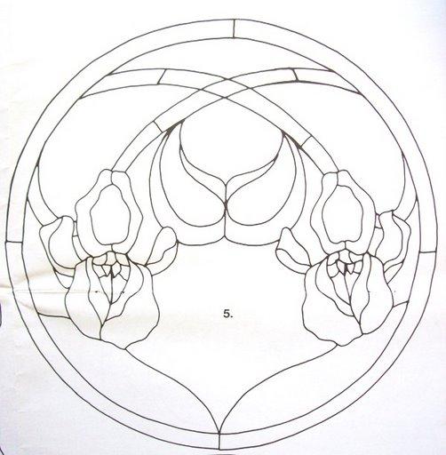 Шаблоны для витражной росписи 24351