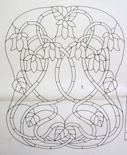 Шаблоны для витражной росписи 25994