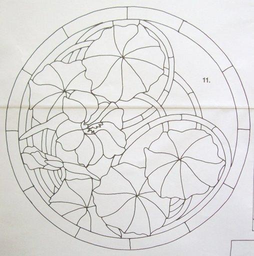 Шаблоны для витражной росписи 76543
