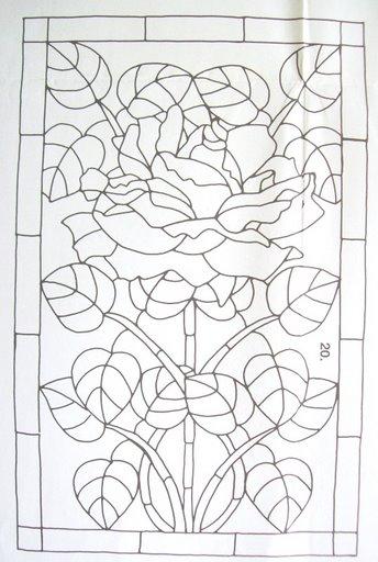 Шаблоны для витражной росписи 16196