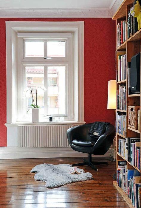 Оформление интерьера под место для чтения 30
