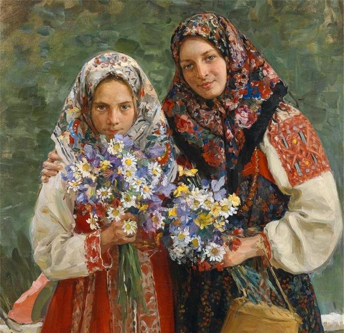 павловопосадские платки в искусстве