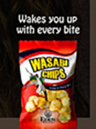 Чипсы Васаби будят вас когда вы их кусаете!)