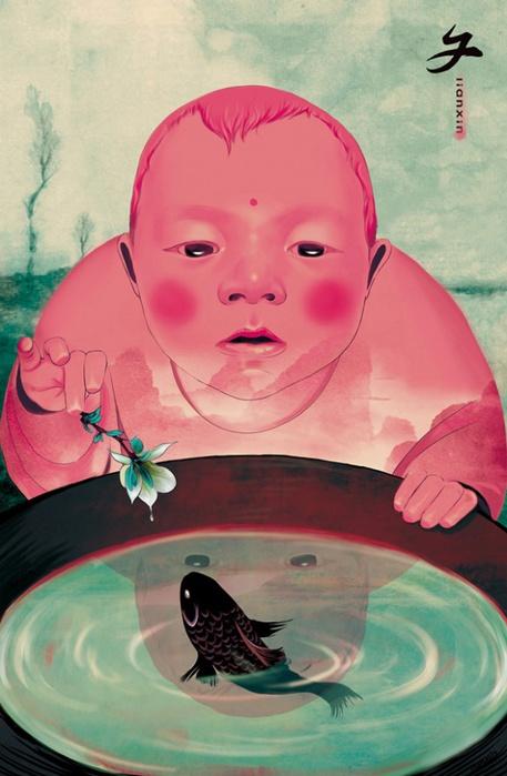 Иллюстрации Xin Lian