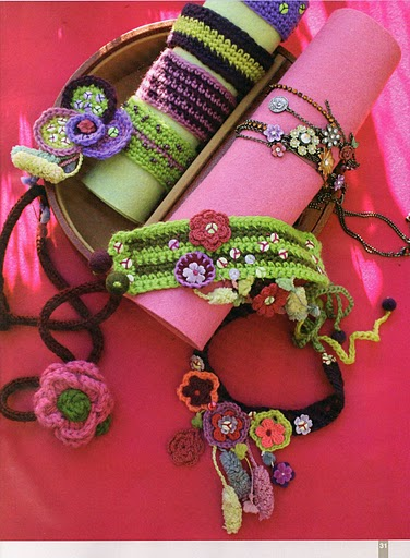 bright knit jewelry