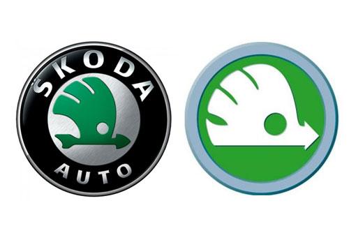 шкода авто меняет свой логотип на зеленого ежика