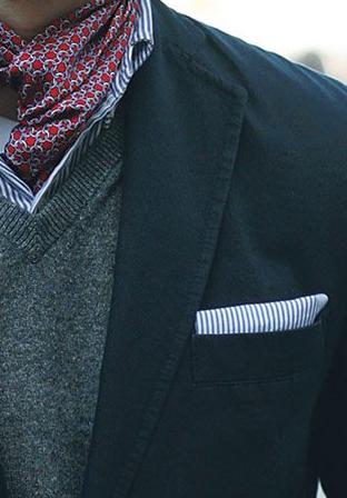Способы завязывания шарфа – мужской стиль