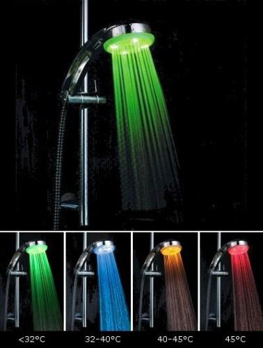 душ с подсветкой из светодиодов