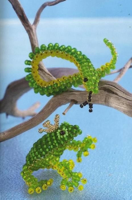 Схема плетения лягушки из