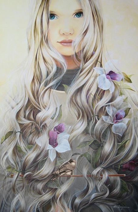 Слушать девушка с волосами цвета льна
