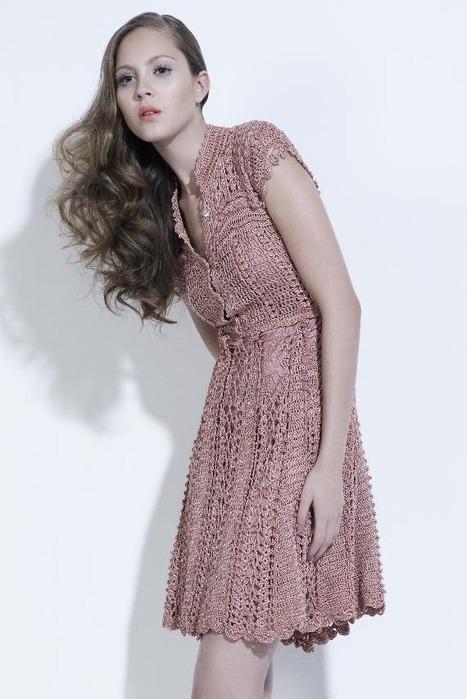 красивые вязаные платья