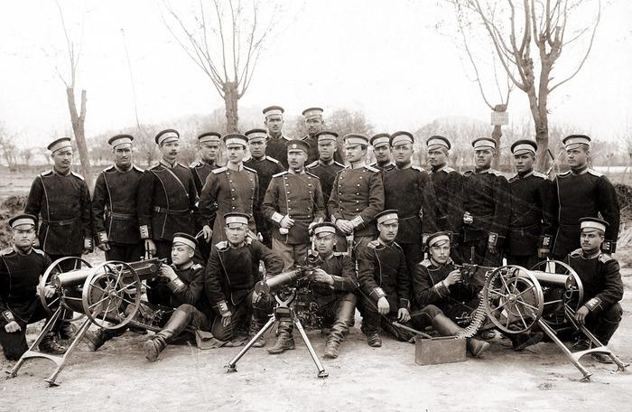 первые пулеметы в болгарской пехоте - максим-шпандау, софия 1907 год