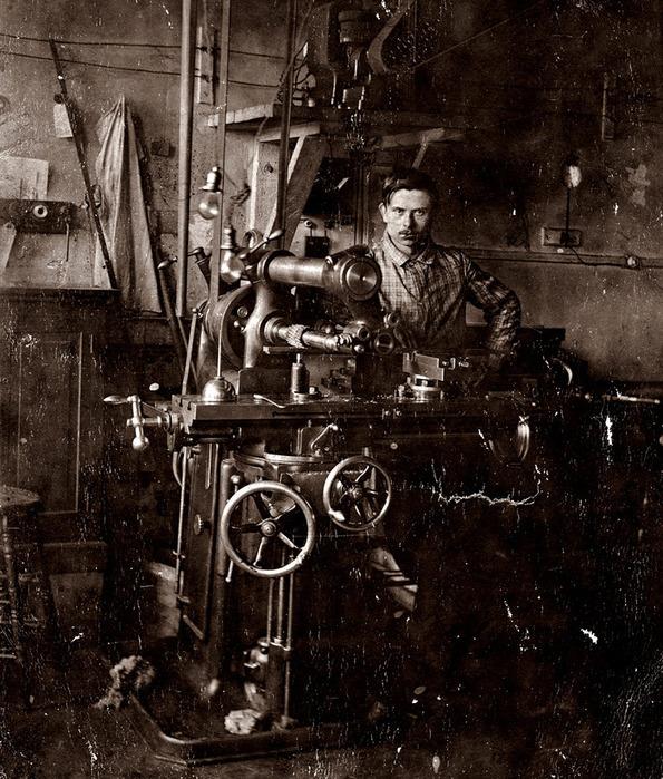 токарь-фрезеровщик - болгарский эмигрант в Толедо, штат Огайо, США 1902 г,