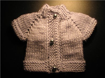 small blouse knitting for christmas tree and doll