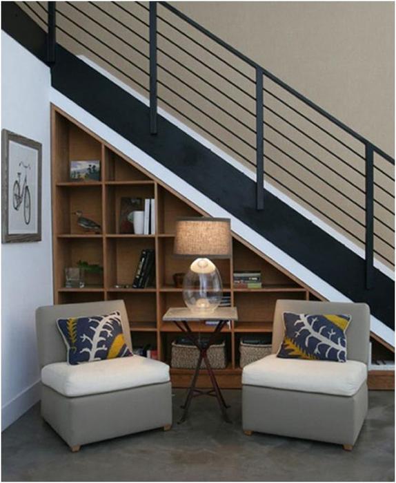 Что сделать с пространством под лестницей