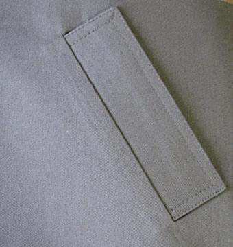Шитье карманов в листочку