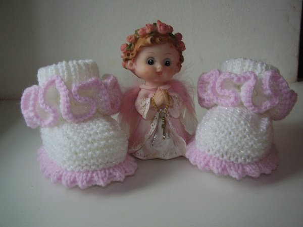 beautiful booties for baby