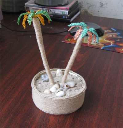 crafts for summer:  palm bead, kids craft ideas