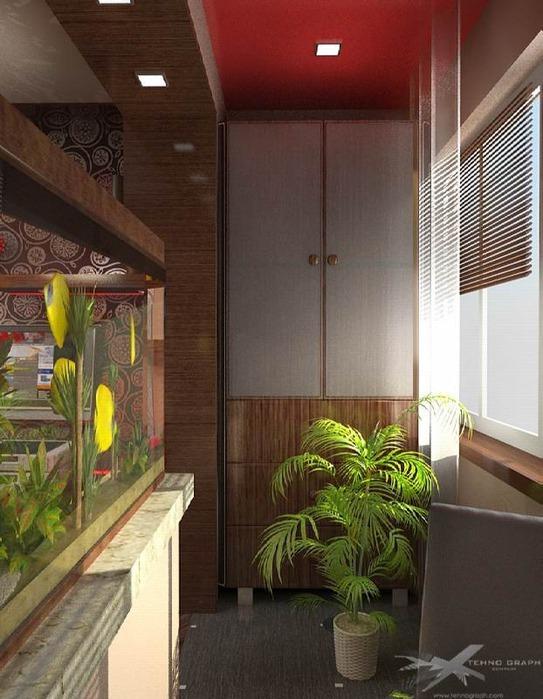 Как преобразить интерьер балкона 12