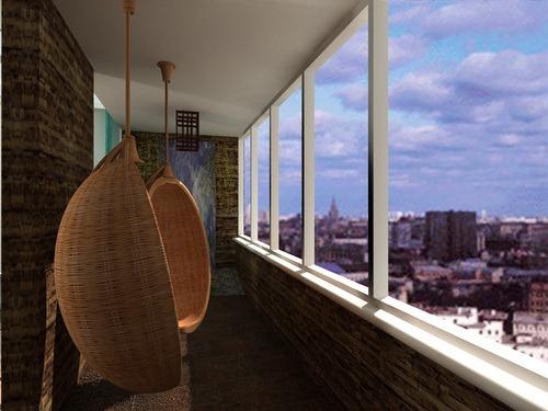 Как преобразить интерьер балкона 15