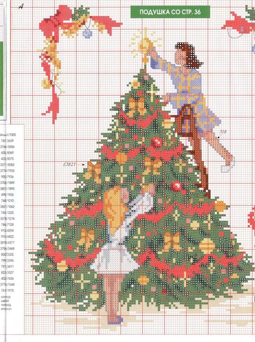 embroidery picture: christmas embroidery