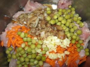 Рецепт - Курица с овощами в пакете