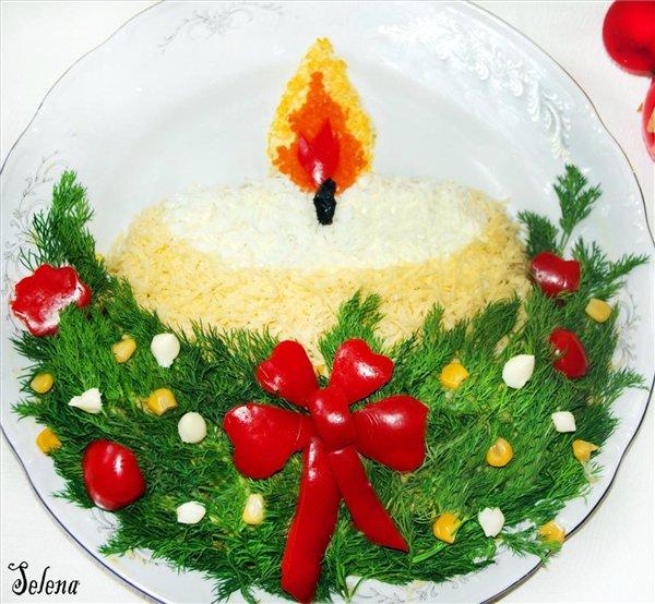 Коледна украса на ястия