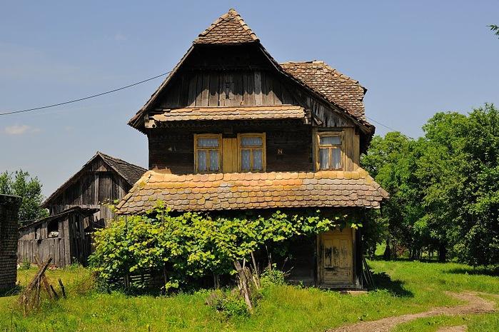 Деревянные дома в заповедном болоте - «Лоньско поле» 54513