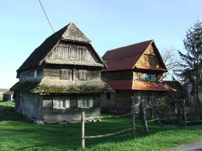Деревянные дома в заповедном болоте - «Лоньско поле» 61469