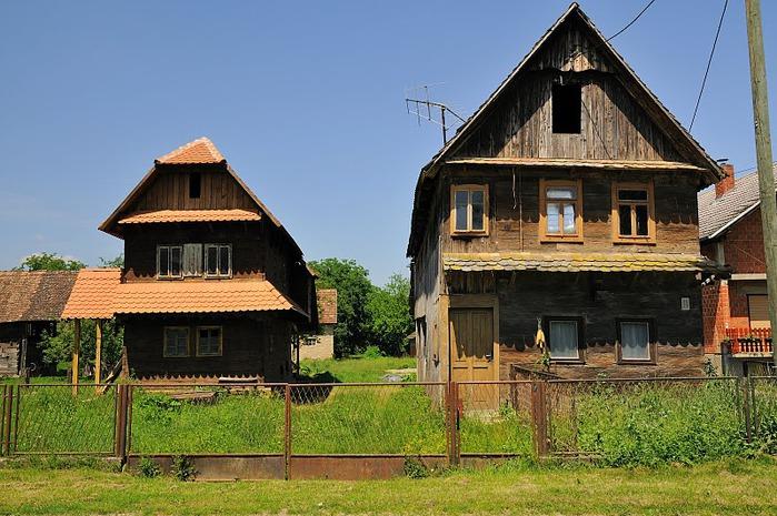 Деревянные дома в заповедном болоте - «Лоньско поле» 52673