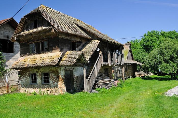Деревянные дома в заповедном болоте - «Лоньско поле» 51806