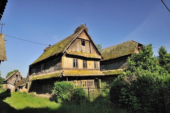 Деревянные дома в заповедном болоте - «Лоньско поле» 45275