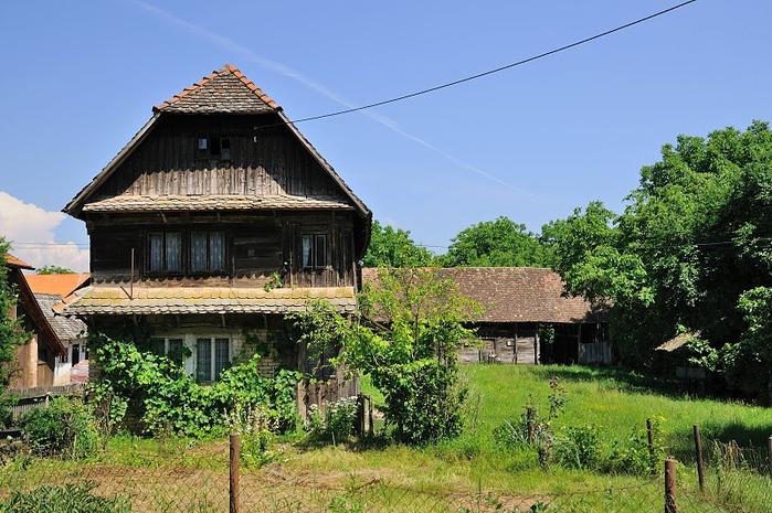 Деревянные дома в заповедном болоте - «Лоньско поле» 12097