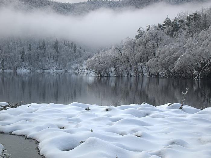 Плитвицкие озёра зимой - Зимняя сказка. 59554