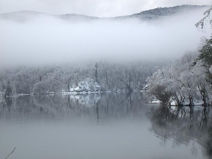 Плитвицкие озёра зимой - Зимняя сказка. 62990