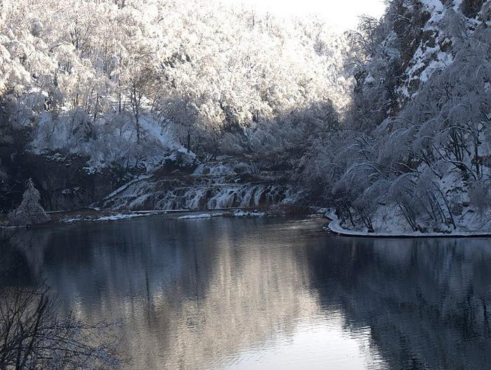 Плитвицкие озёра зимой - Зимняя сказка. 41422