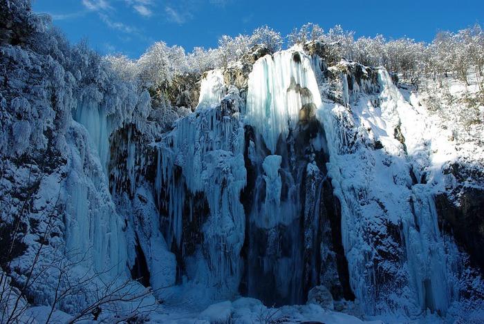 Плитвицкие озёра зимой - Зимняя сказка. 55814
