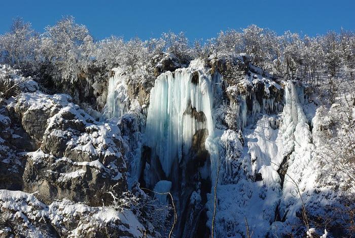 Плитвицкие озёра зимой - Зимняя сказка. 84162