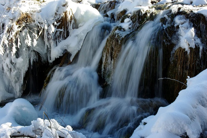 Плитвицкие озёра зимой - Зимняя сказка. 15302